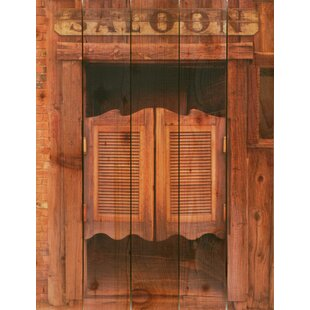 Swinging barroom doors