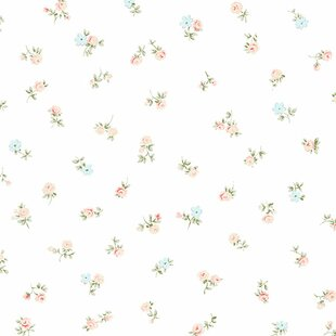 Shabby Chic Floral Wallpaper