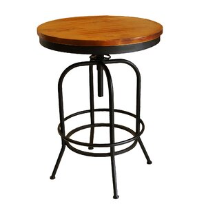 Jarin Round Swivel Adjustable Pub Table by 17 Stories
