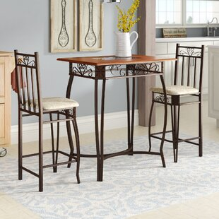 Barcelona 3 Piece Counter Height Pub Table Set