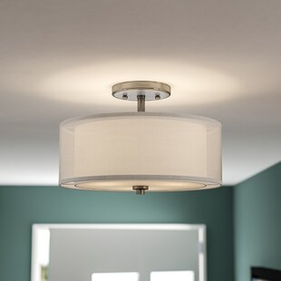 Flush Mount Lighting Youll Love Wayfair - Semi flush kitchen lights