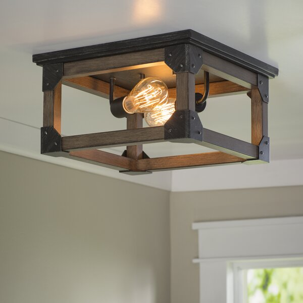 17 stories cheyanne 2 light ceiling flush mount reviews wayfair mozeypictures Choice Image
