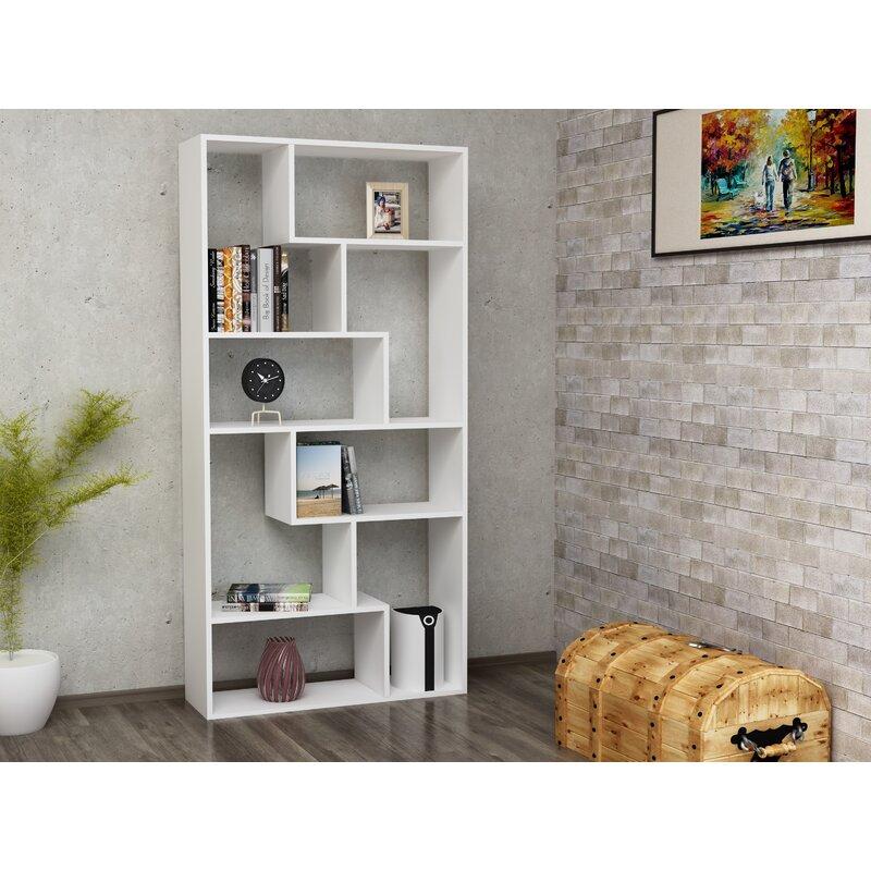 Ivy Bronx Canipe Geometric Bookcase