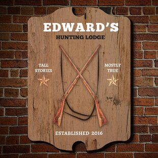 Hunting Lodge Personalized Man Cave Sign Wall Décor