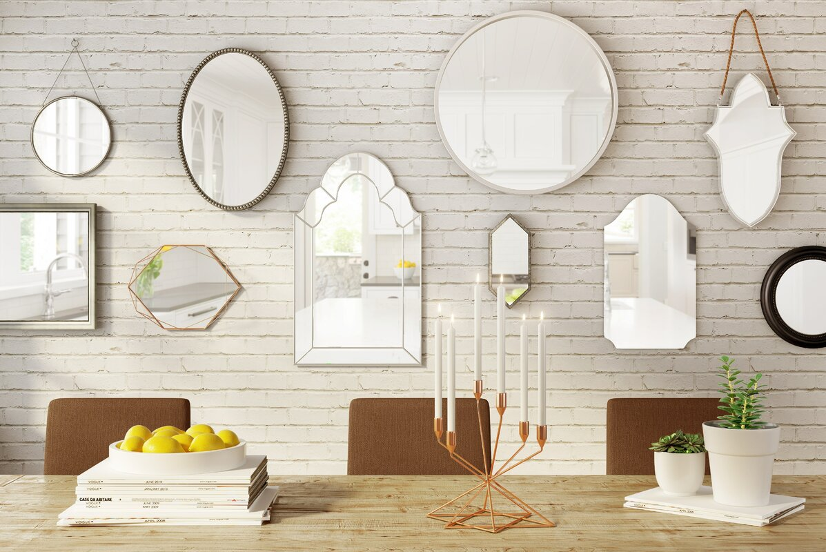 Majestic Mirror Simple Silver Frame Modern Circular