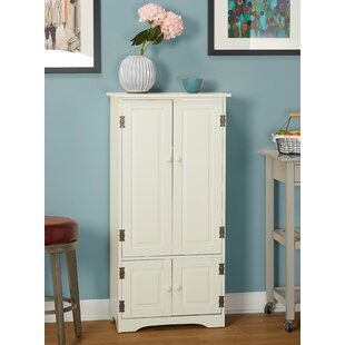 Tall Pine China Cabinet in Weathered White Finish