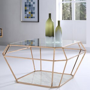 Jayleen Hexagon Coffee Table by Willa Arlo I..