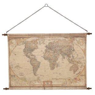 Vintage world map canvas wayfair vintage world map wall decor gumiabroncs Gallery