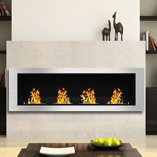 Kelly Ventless Recessed Wall Mounted Bio Ethanol Fireplace