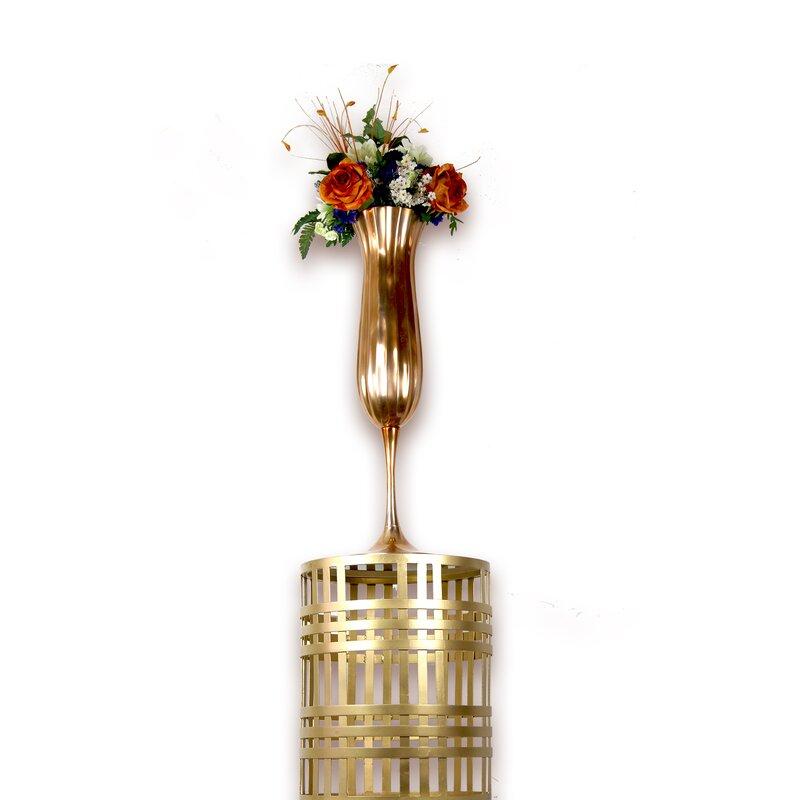 Astoria Grand Milla Champagne Glass Pedestal Floor Vase Wayfair