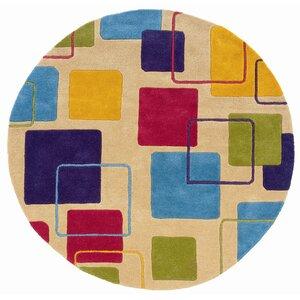 Leanne Ivory Geometric Squares Rug