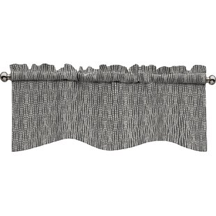 Gray Silver Valances Kitchen Curtains Youll Love Wayfair