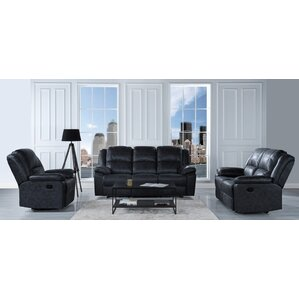 Bramhall Oversize and Overstuffed Recliner 3 Piece Living Room Set by Winston Porter