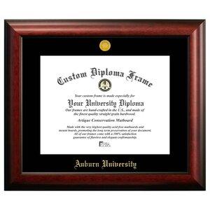 NCAA Auburn University Gold Embossed Diploma Picture Frame