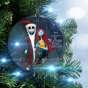 nightmare before christmas santa jack and sally hanging ornament - The Nightmare Before Christmas Decorations