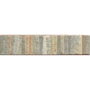 2 75 X 12 Slate Listello Tile In Amber Gold