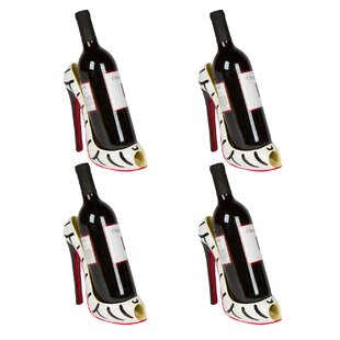 Cabello High Heel Holder 1 Bottle Tabletop Wine Rack (Set of 4)