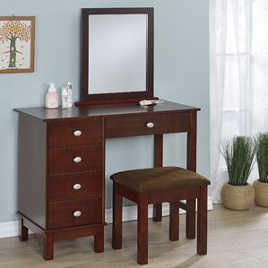 Cherry Bedroom & Makeup Vanities You\'ll Love | Wayfair
