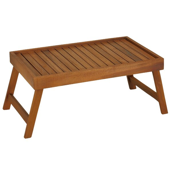 Baredecor Coco Bed Tray Table In Solid Teak Wood Wayfair