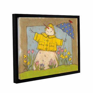 Seasonal Snowman Framed Painting Print on Wrapped Canvas