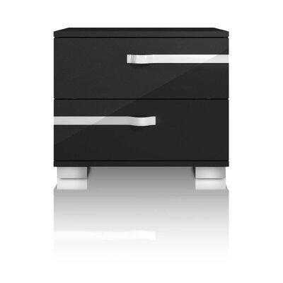 Brayden Studio Salerno 2 Drawer Nightstand Color: Black high gloss laquer