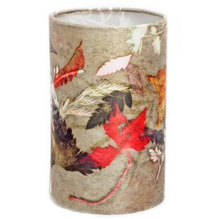 Wire lampshade wayfair floral dance 20cm fabric drum lamp shade aloadofball Image collections