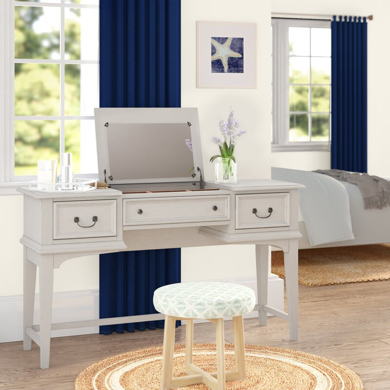 Wayfair Rosecliff Heights Trenton Vanity Desk With Mirror