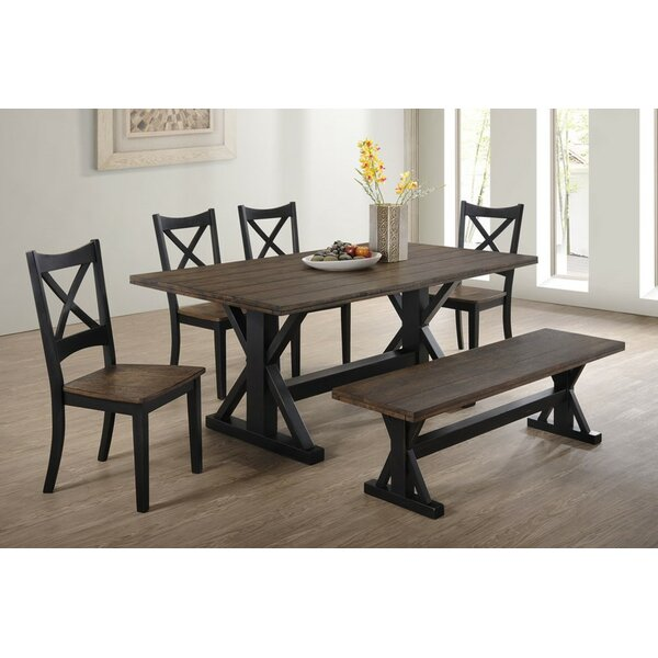 World Menagerie Landrum 6 Piece Dining Set U0026 Reviews | Wayfair