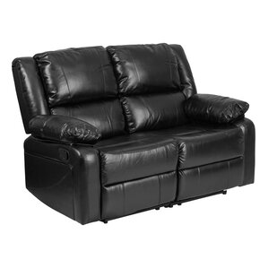 Harmony Series Leather Reclining Loveseat by Offex