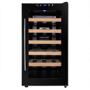 18 Bottle Single Zone Freestanding Wine C..