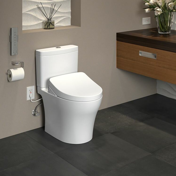 Incroyable Aquia IV 1G Dual Flush Elongated Two Piece Toilet With Ewater+