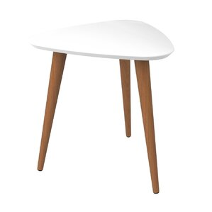 Wonderful Lemington Triangle End Table With Splayed Wooden Legs