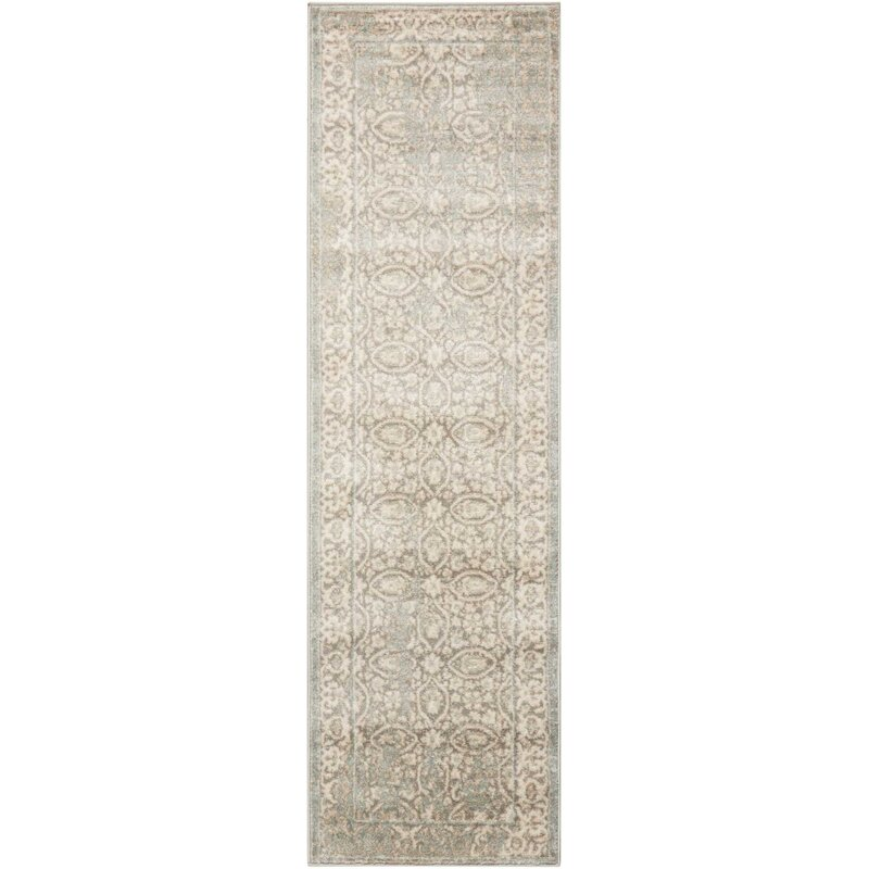 lark manor angelique gray and ivory area rug reviews wayfair. Black Bedroom Furniture Sets. Home Design Ideas