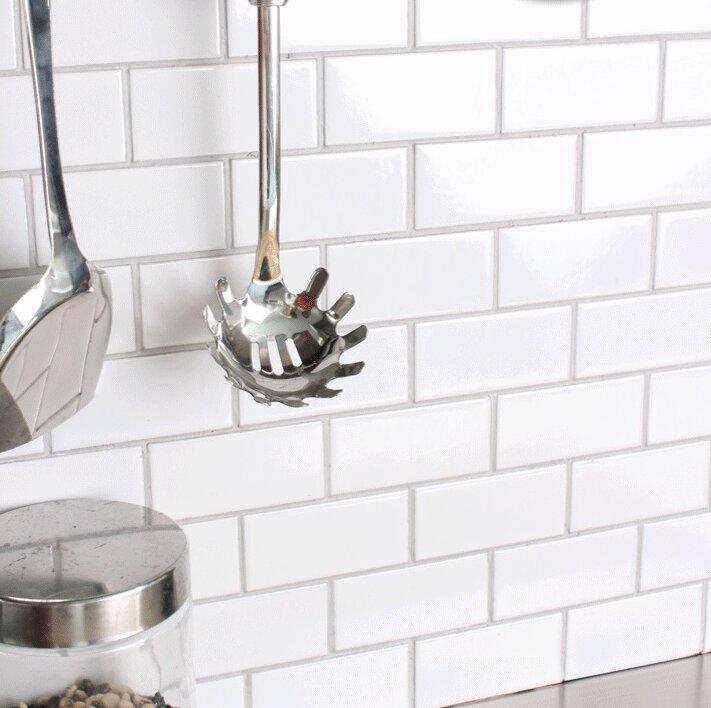 "Ceramic Subway Tile Kitchen Backsplash: WS Tiles Value Series 3"" X 6"" Ceramic Subway Tile In"