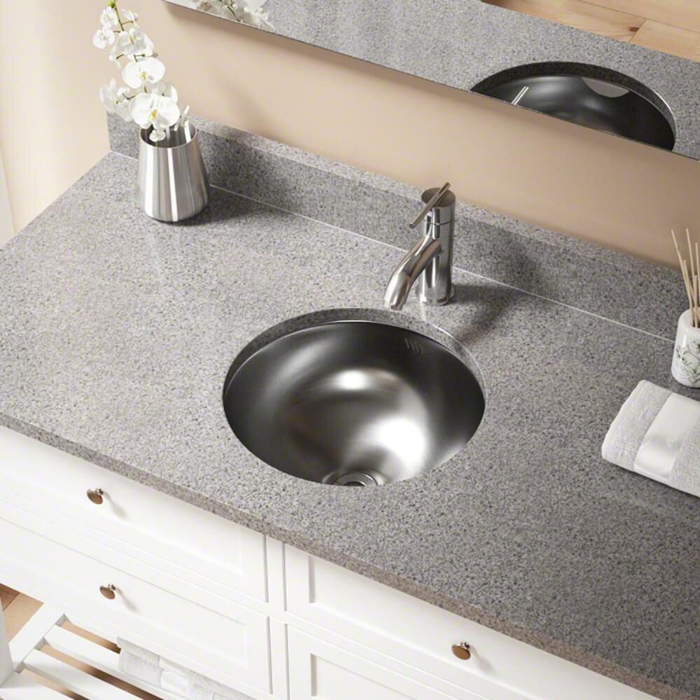 420 Stainless Steel Circular Undermount Bathroom Sink
