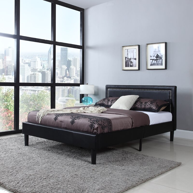 Madison Home USA Deluxe Upholstered Platform Bed Reviews Wayfair