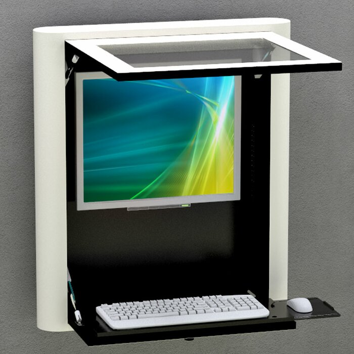Best Mounting Wall Mounted Computer Workstation Wayfairca