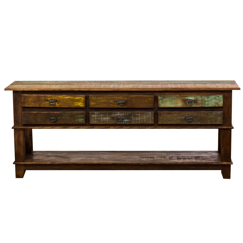 Loon Peak Orris 6 Drawer Bottom Shelf Console Table | Wayfair