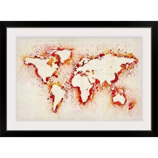 Large wall stencils patterns wayfair paint stencil map of the world by michael tompsett graphic art print in grey gumiabroncs Image collections