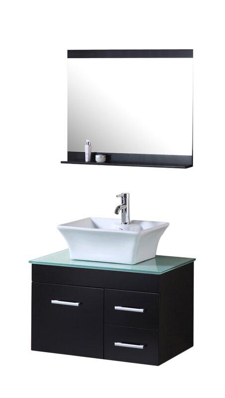 Newcastle 30 Single Bathroom Vanity Set With Mirror