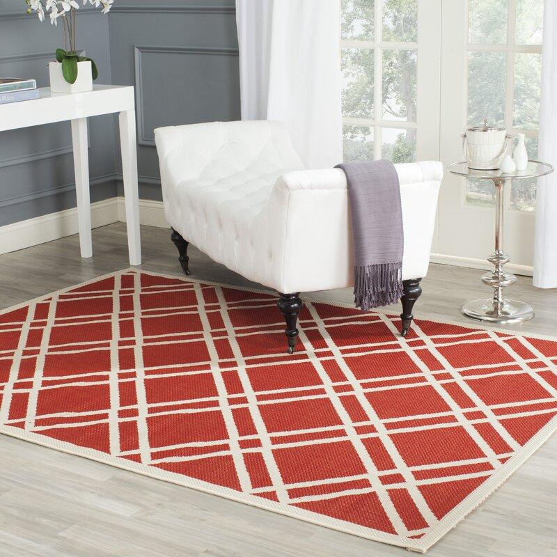 safavieh innen au enteppich mason in rot elfenbein. Black Bedroom Furniture Sets. Home Design Ideas