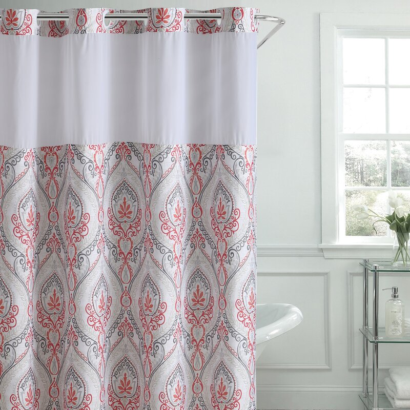 Bungalow Rose Pilsen French Damask Shower Curtain | Wayfair