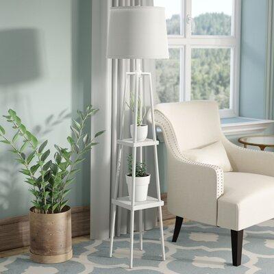 Chrome Amp White Amp Cream Floor Lamps You Ll Love In 2019