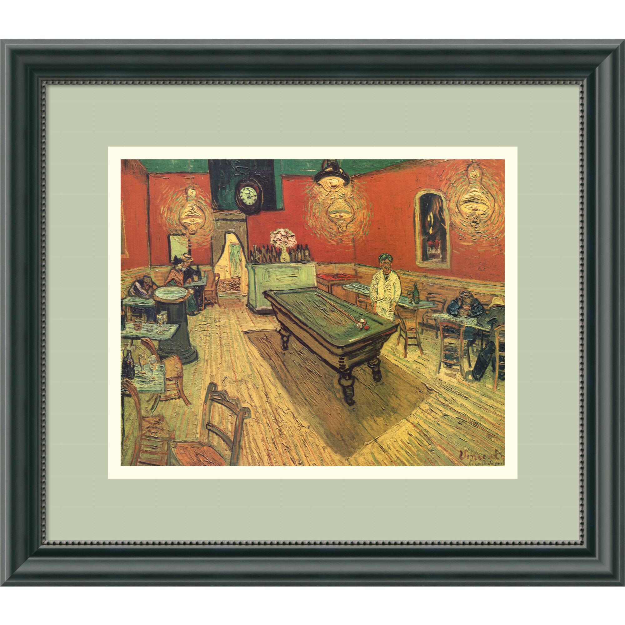 Amanti Art Night Cafe With Pool Table By Vincent Van Gogh Framed Painting Print Wayfair