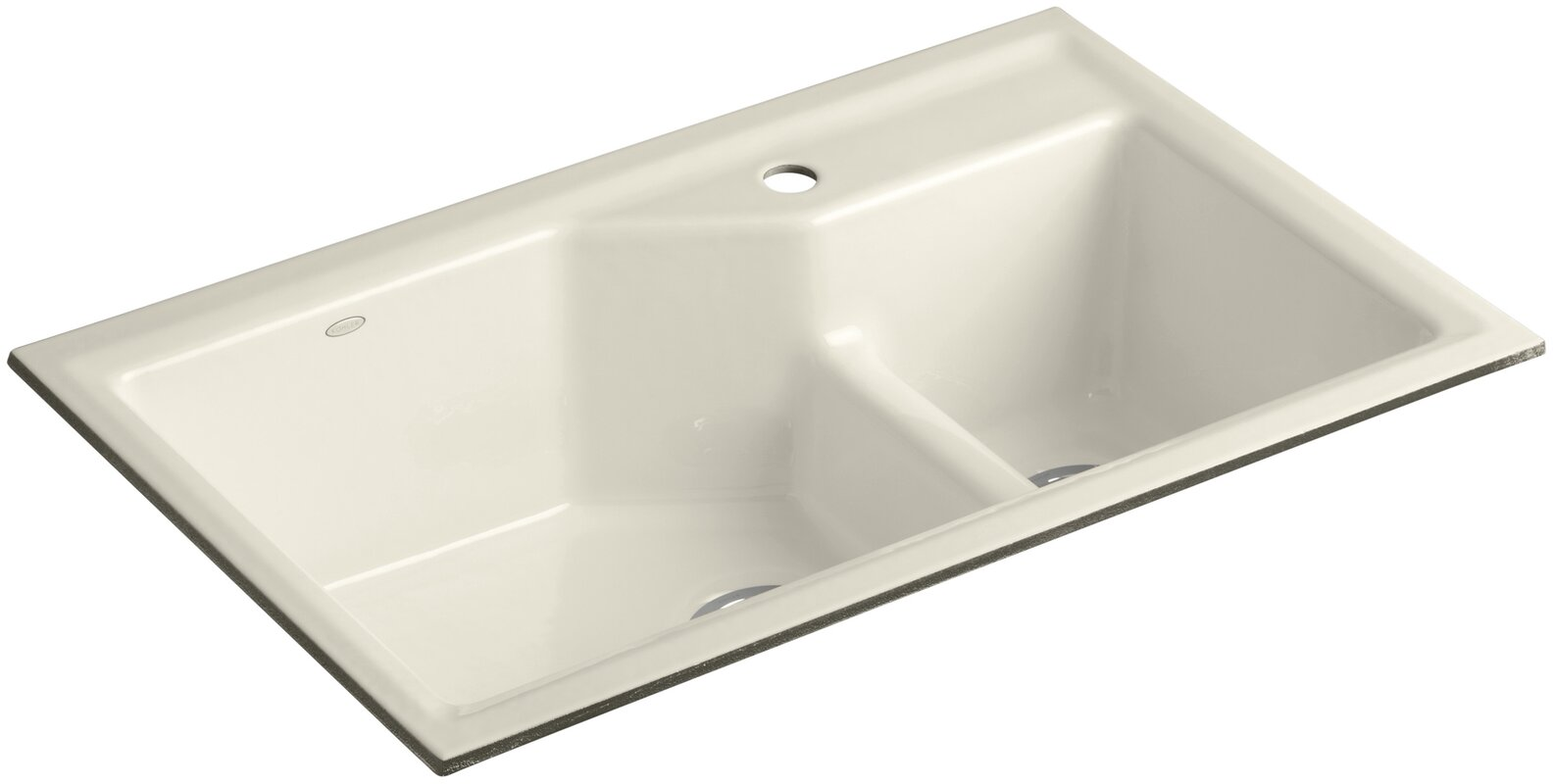 """Indio 33"""" x 21-1/8"""" x 9-3/4"""" Under-Mount Smart Divide Large/Small Double-Bowl Kitchen Sink"""