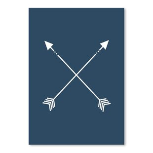 Navy Blue Arrow Poster Gallery Graphic Art
