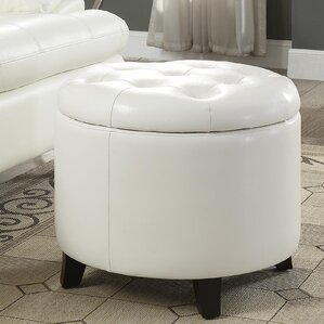 Alcott Hill Michigan Round Ottoman with Storage
