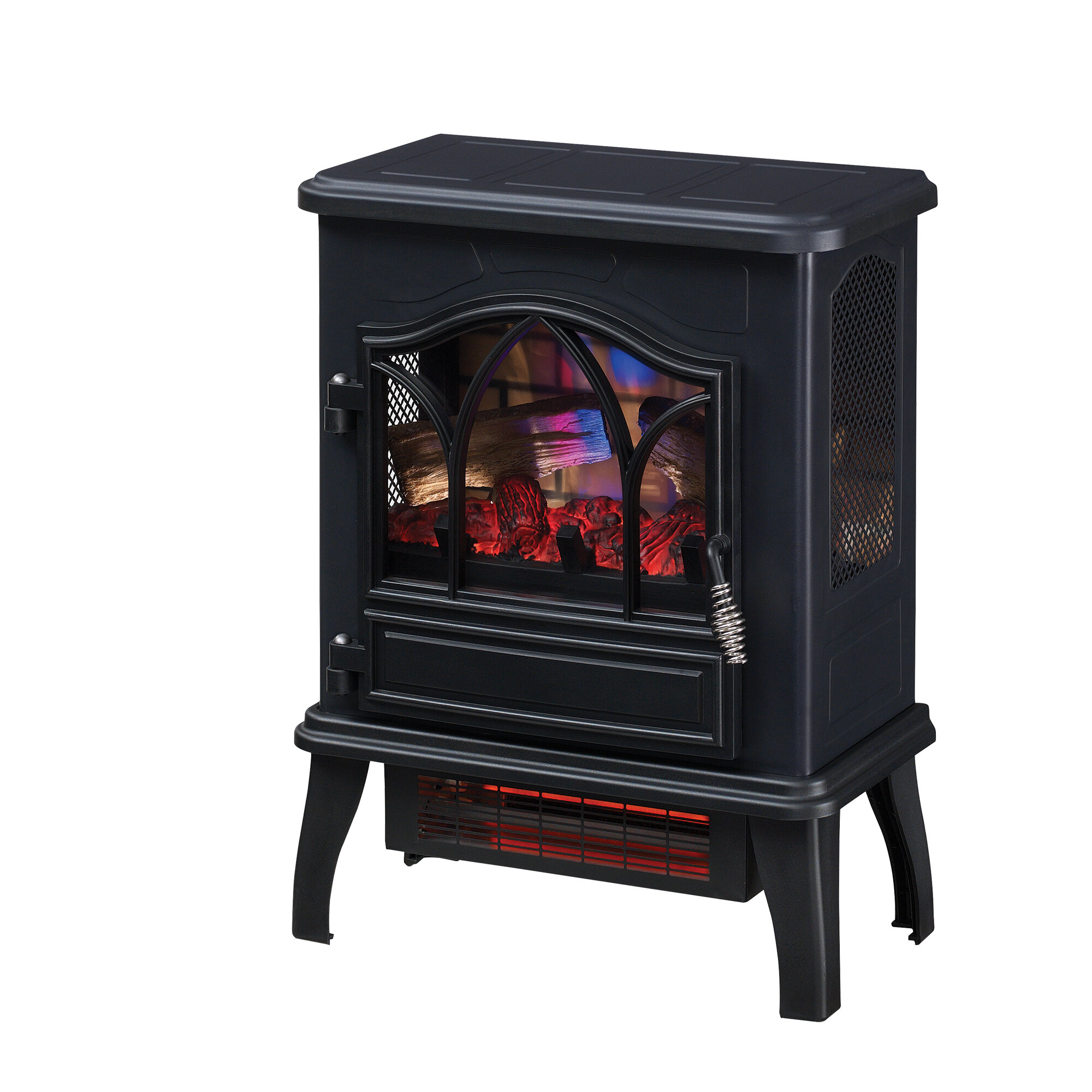 electric potbelly stoves wayfair rh wayfair com Rustic Electric Fireplace Stove Pot Belly Stove Heating