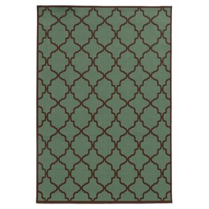 Heidy Green/Brown Indoor/Outdoor Area Rug