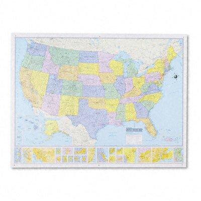 American Map Company Rand Mcnally MSeries FullColor Laminated - United states wall map laminated